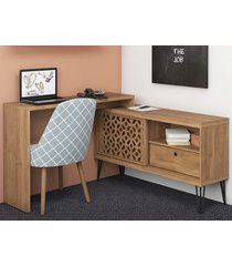 "bancada e mesa para tv até 40"" frizz - líder design"