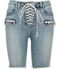 ben taverniti unravel project unravel lace-up denim shorts