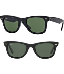 ray-ban large classic wayfarer 54mm sunglasses in black at nordstrom