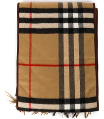 burberry vintage check print cashmere scarf