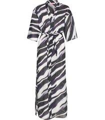 kimono long zebra morgonrock svart hunkemöller