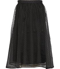 katerinaiw skirt knälång kjol svart inwear