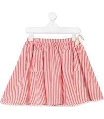 caramel norton striped skirt - pink