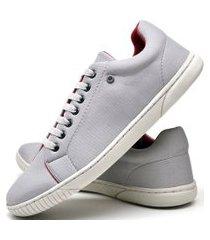 tênis sapatênis casual fashion dubuy  940el cinza