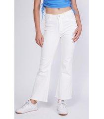 jeans palazzo basta deshilachada blanco mujer sioux