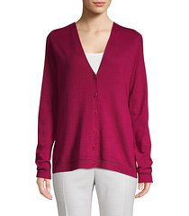sequin trim cashmere cardigan