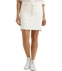 lucky brand mid-rise denim mini skirt