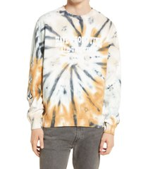 men's volcom men's have a good time tie dye graphic sweatshirt, size xx-large - metallic