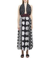 dolce & gabbana long printed dress