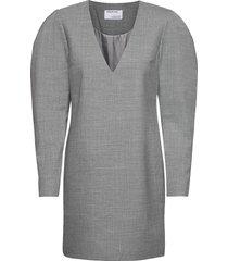 dallas v-neck dress knälång klänning grå designers, remix