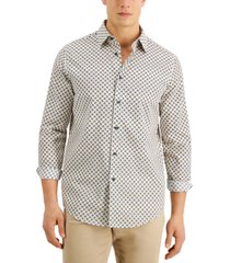 tasso elba men's cinelli geo print shirt, created for macy's