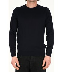 john smedley blue cotton sweater