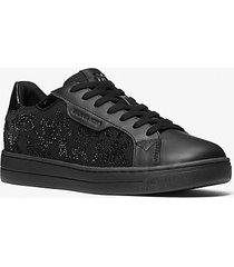 mk sneaker keating in pelle e nylon con decori - nero (nero) - michael kors