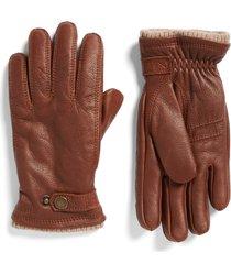 men's hestra utsjo leather gloves, size medium - brown