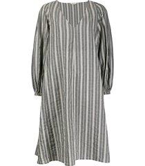 barena oversized pinstripe kaftan dress - grey