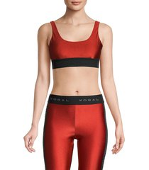 koral women's mesh sports bra - rouge black - size xs