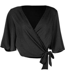 blusa kimono linda d+ preto