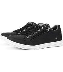 sapatãªnis sapato casual sapatofran com zãper lateral preto - preto - masculino - sintã©tico - dafiti