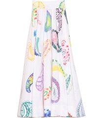 pleated skirt in white multi