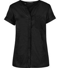 camicetta in cotone a maniche corte (nero) - bpc bonprix collection