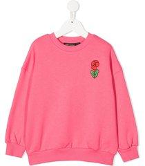 mini rodini floral print sweatshirt - pink