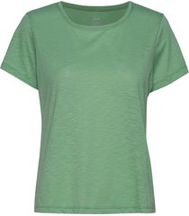 texture tee t-shirts & tops short-sleeved grön casall