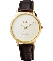 reloj para caballero elegante q&q qb34j101y cafe