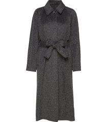 montana coat wollen jas lange jas zwart filippa k