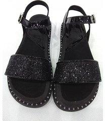 sandalia negra sibenik renata