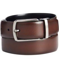 perry ellis men's burnished reversible dress belt