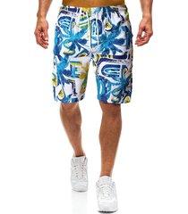hombres verano coco tree impreso playa shorts secado rápido trajes de baño