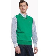 tommy hilfiger men's essential sweater vest radiant green - m