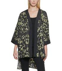 karl lagerfeld paris printed kimono jacket
