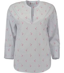 blouse flamingo lichtblauw