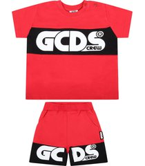 gcds mini red suit for babykids with logo