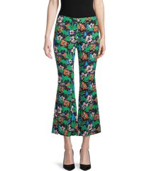 love moschino women's jungle-print kick flare pants - jungle multi - size 42 (8)