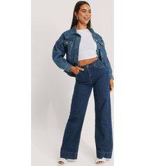trendyol jeans med hög midja och vida ben - blue