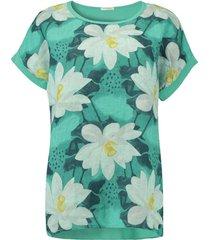 t-shirt summer flower groen