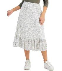 dizzy lizzy printed ruffled-hem skirt