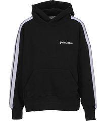 palm angels logo track hoodie