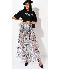 akira too much talk maxi skirt