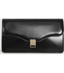 reiss olivia - leather clutch bag in black, womens