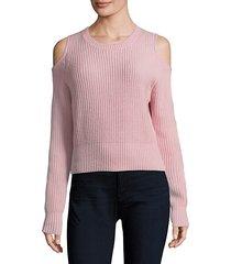galen cold-shoulder crop sweater