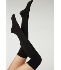calzedonia ultra opaque thermal over-the-knee stockings woman black size tu