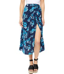 women's free people sunray floral print faux wrap skirt
