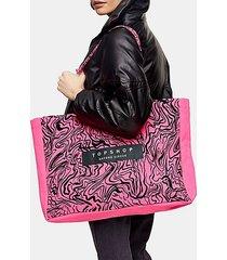 pink printed oxford circus topshop tote bag - pink