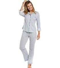 dames pyjama doorknoop pastunette de luxe 25211-310-6-50