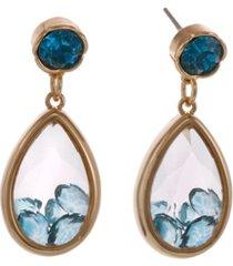 laundry by shelli segal stone teardrop earrings