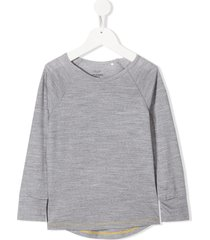 knot merino wool long-sleeve t-shirt - grey
