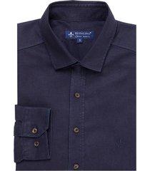 camisa dudalina manga longa blue raw masculina (jeans escuro, 6)